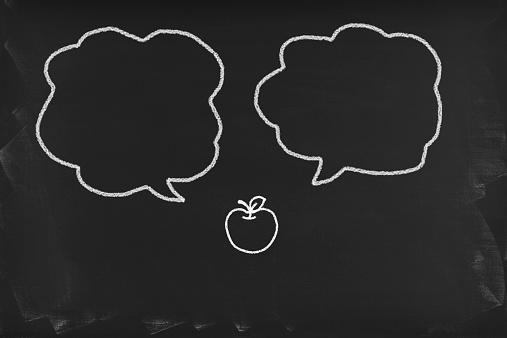 istock Speech bubbles on blackboard 534305607