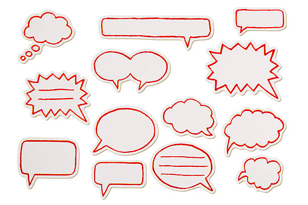 speech bubbles - doodle stock photos and pictures