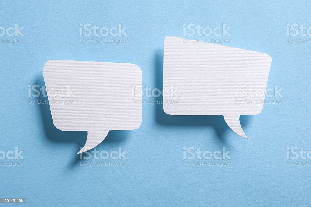 Speech bubbles bildbanksfoto
