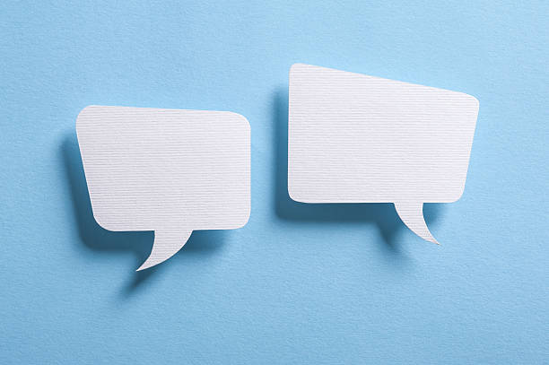 speech bubbles - concepts & topics stock photos and pictures