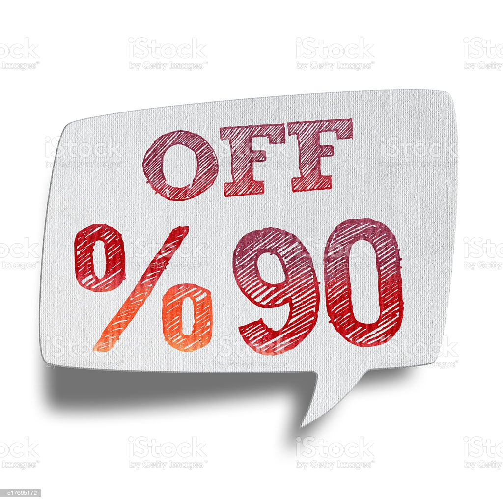 90% OFF Speech Bubbles (Clipping Path) stock photo