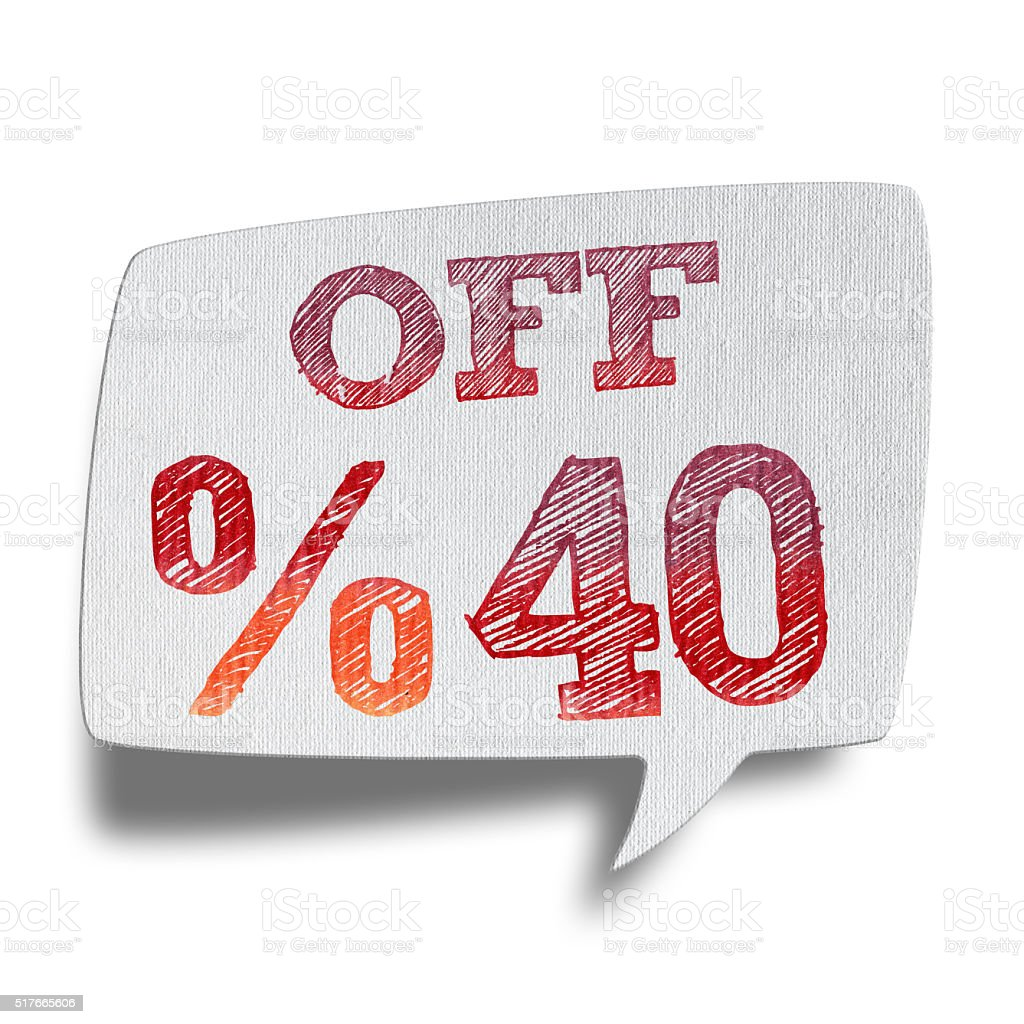 40% OFF Speech Bubbles (Clipping Path) stock photo