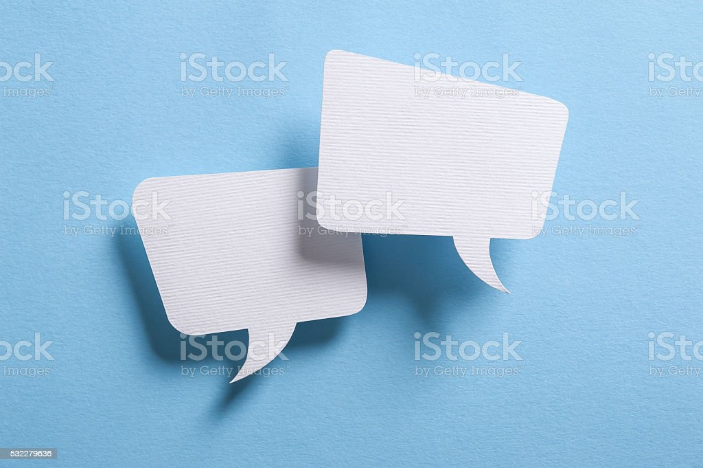 Speech bubbles stock photo