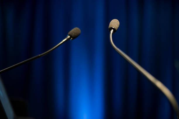 speech microphone (click for more) - debate стоковые фото и изображения