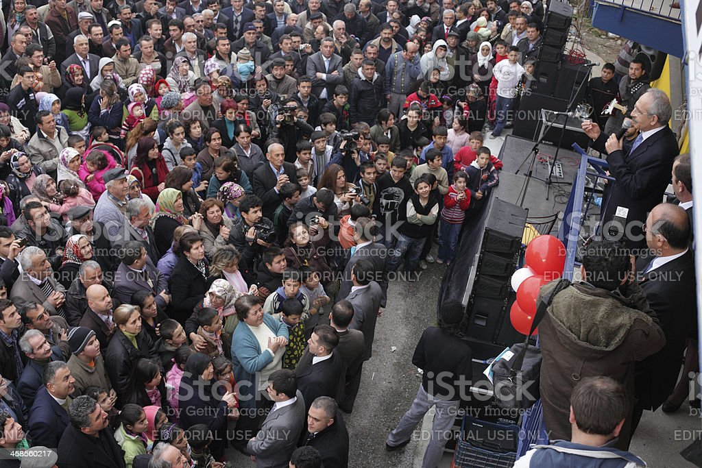 Speech of Politician, Denizli, Turkey royalty-free stock photo