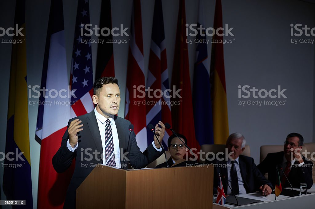 Speech stock photo