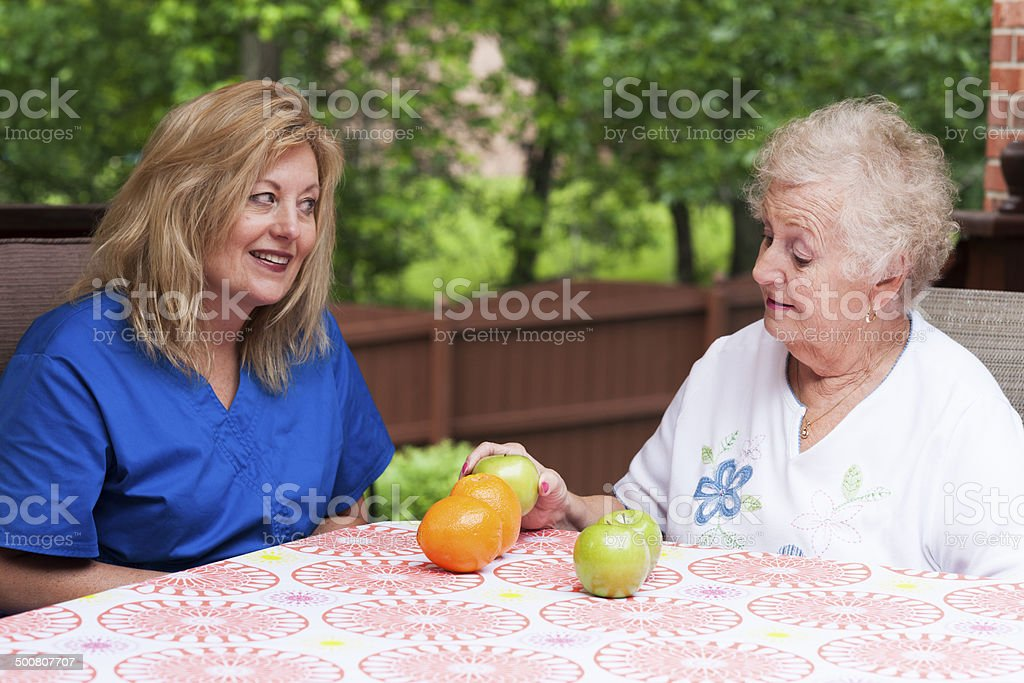 Speech therapy for aphasia stock photo
