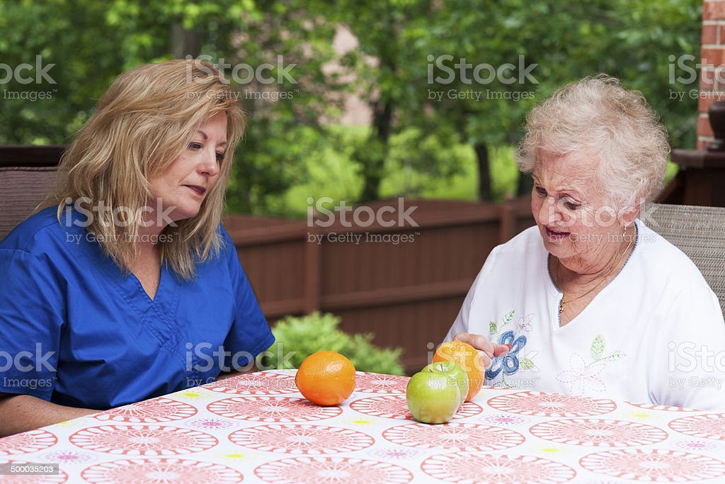 Speech therapy for aphasia rehabiliitation stock photo