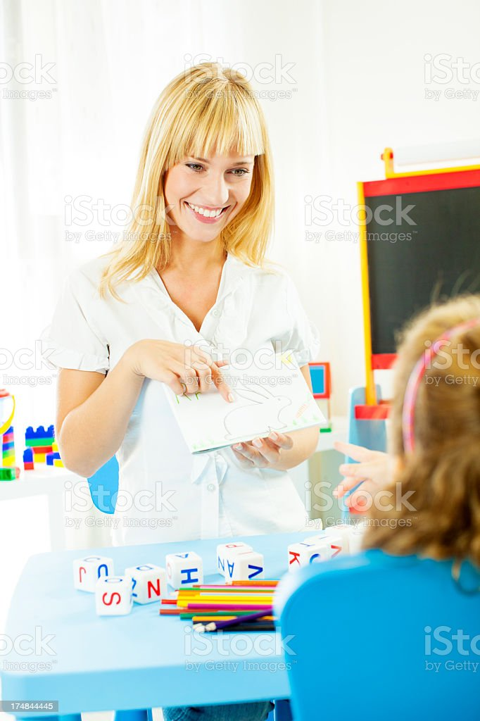 Speech Therapy. stock photo