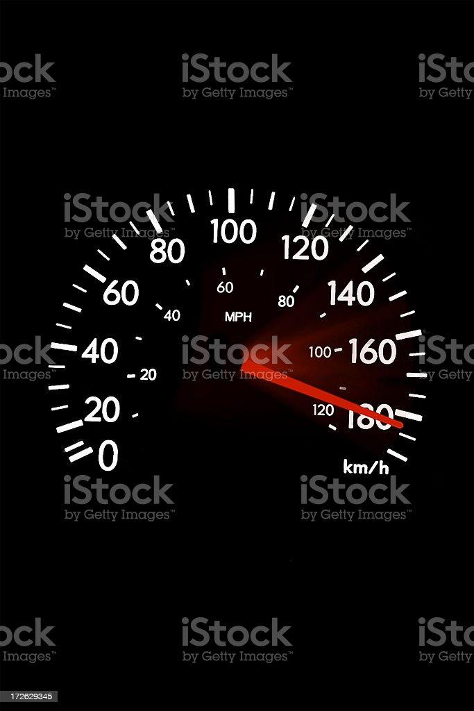 Speed 180 royalty-free stock photo