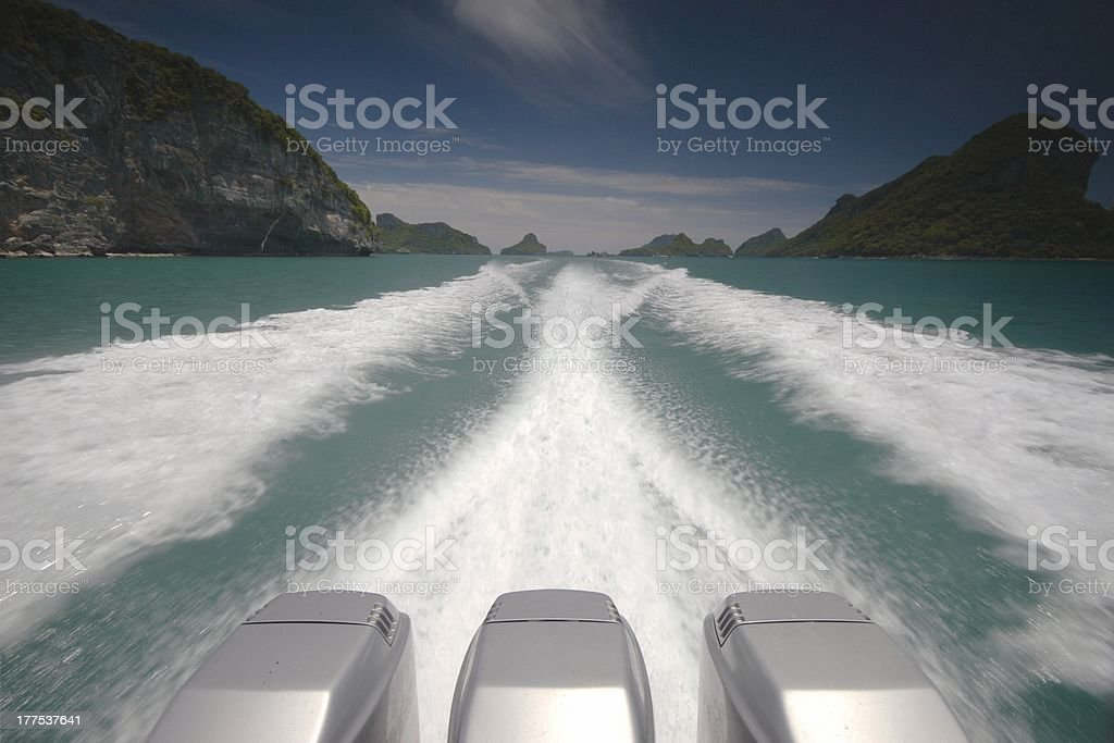 Speed 2 detail in white water royalty-free stock photo