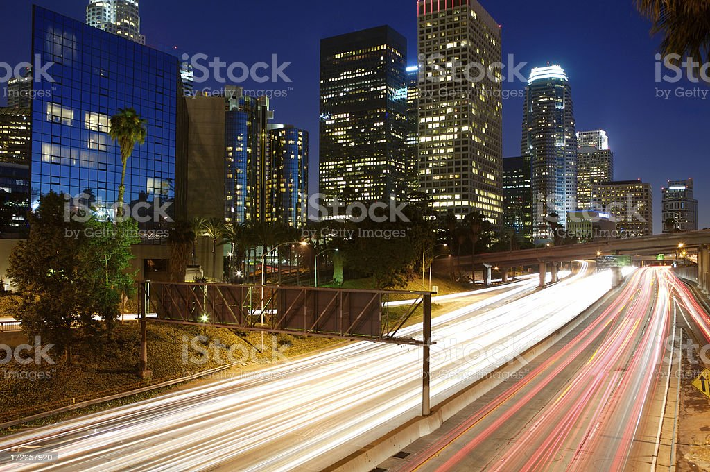 Speed at night royalty-free stock photo