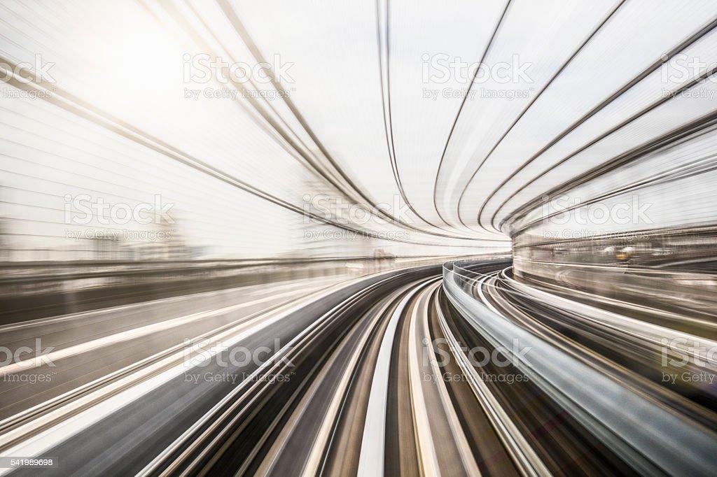 Speed at Tokyo stock photo