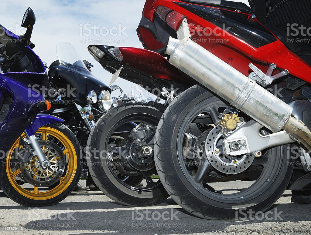 Speed bikes close up royalty-free stock photo