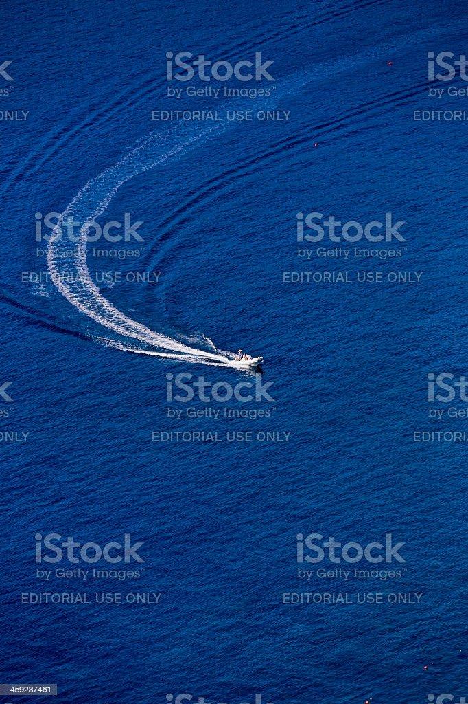 speed boat at oludeniz stock photo
