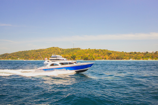 speed boat at phi phi island