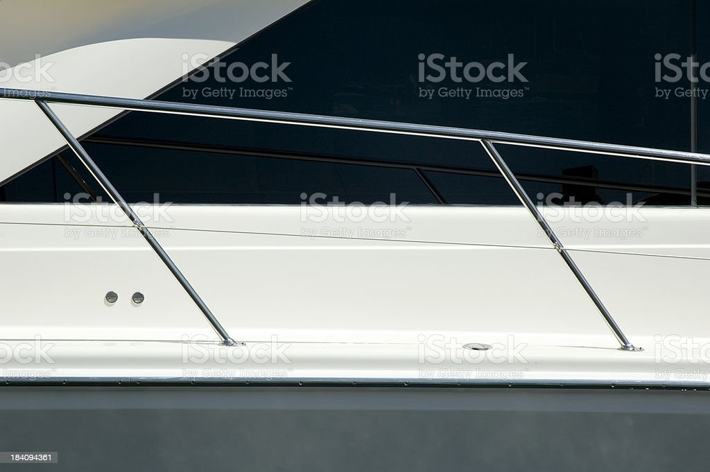 Speed boat detail stock photo