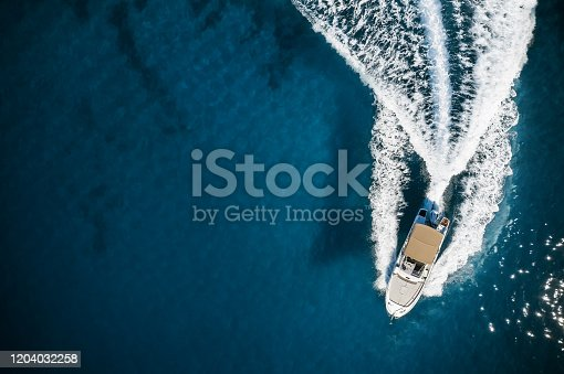 istock Speed boat in mediterranean sea 1204032258