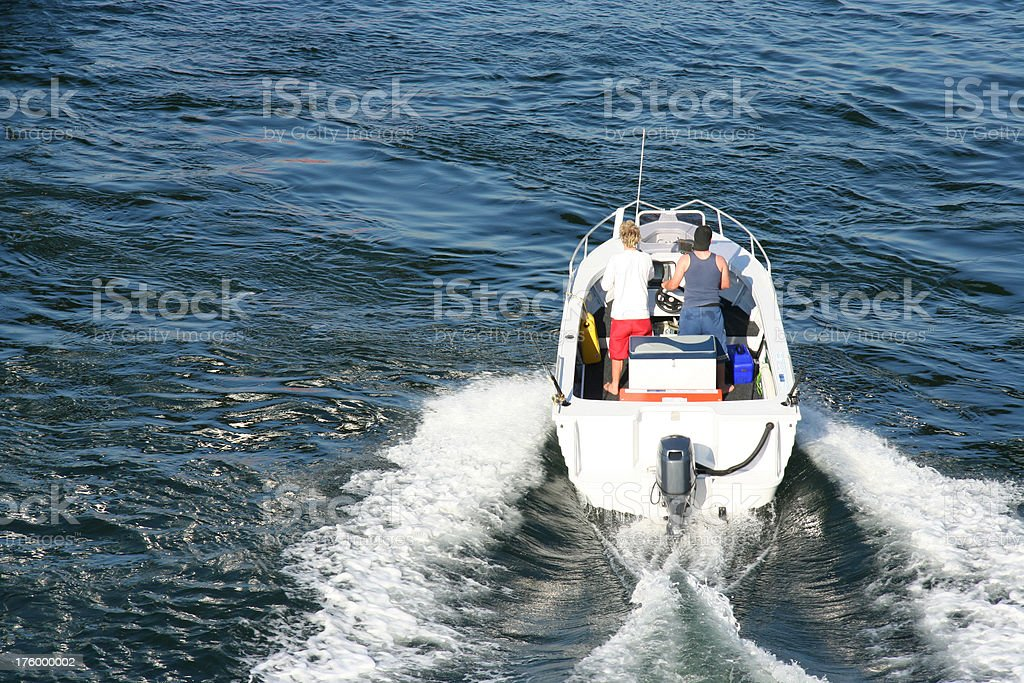 Speed Boat - Out to Sea stock photo