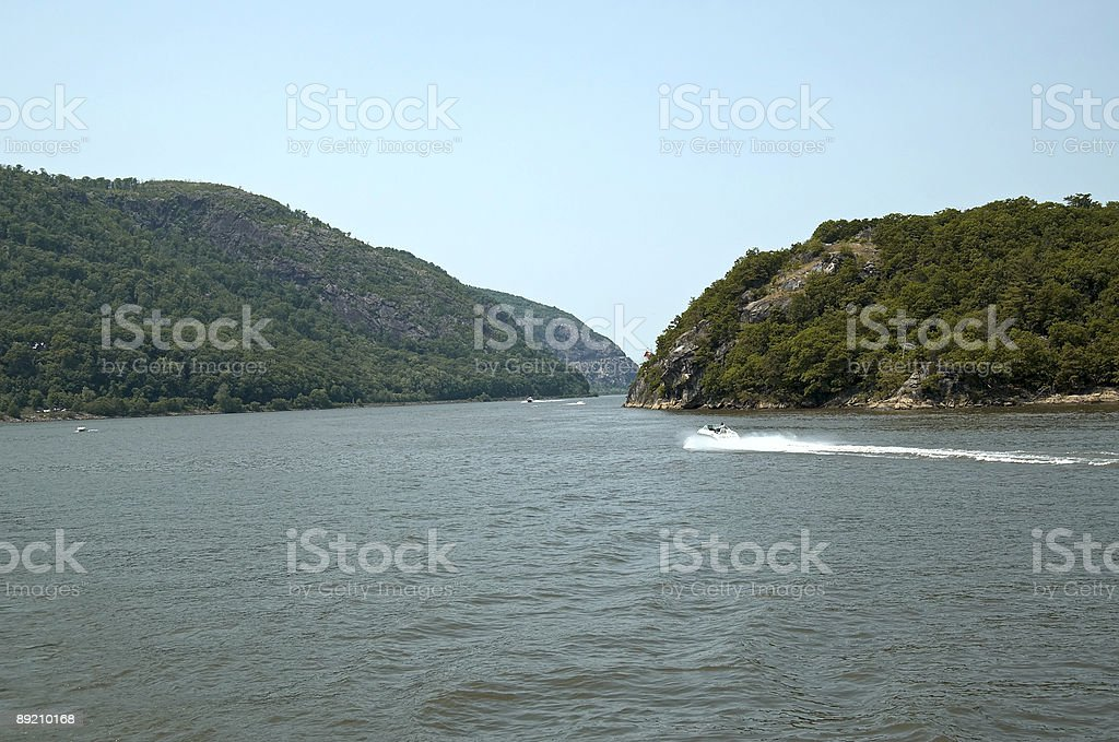 Speed Boats on the Hudson royalty-free stock photo