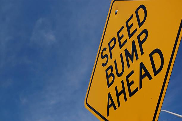 Speed Bump Ahead stock photo