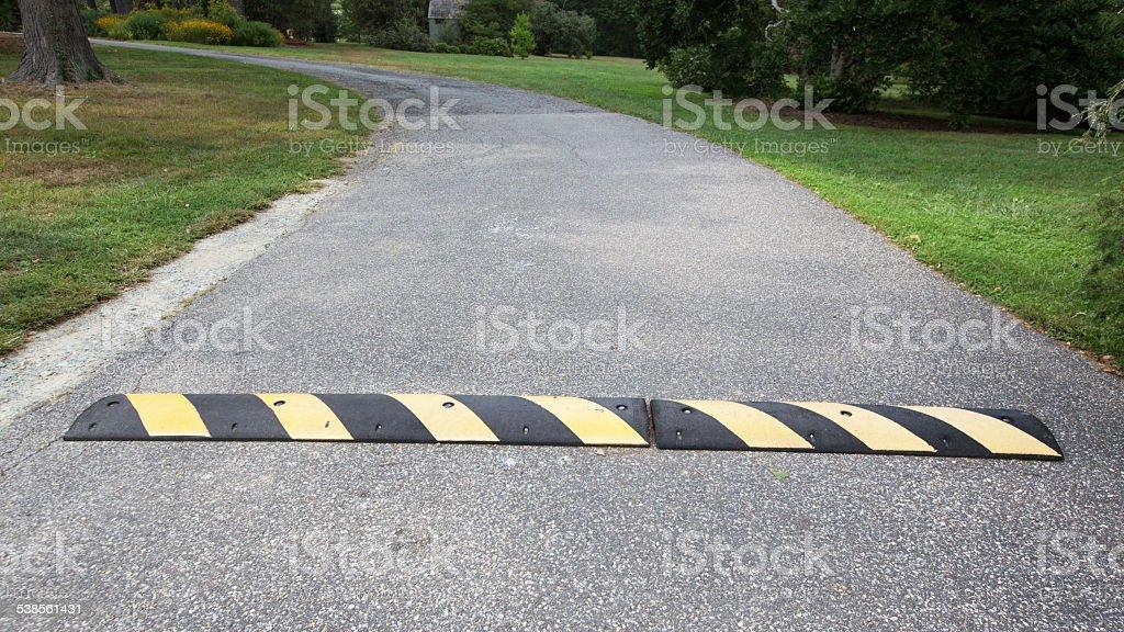 Speed Bump stock photo