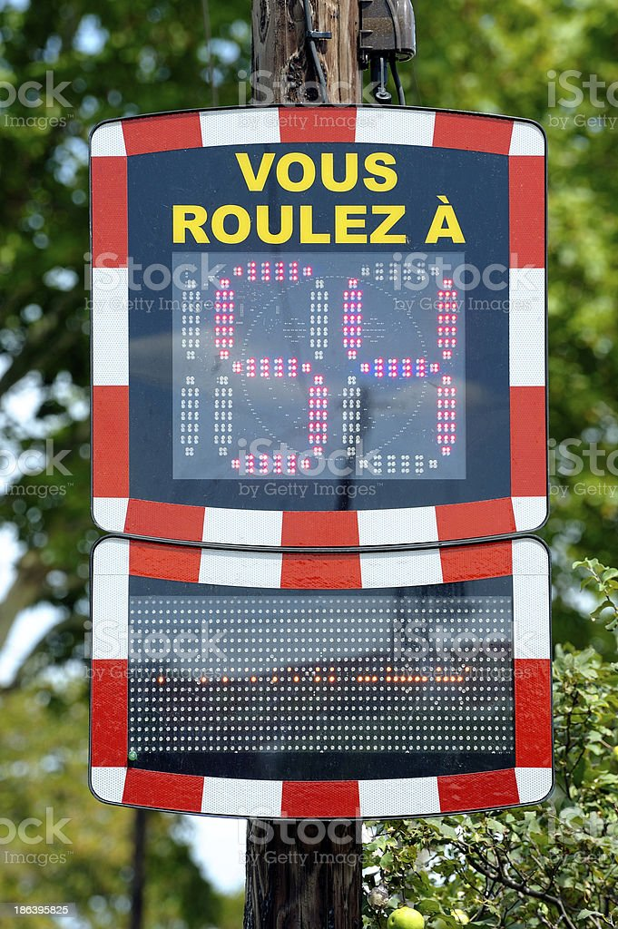 Speed control royalty-free stock photo
