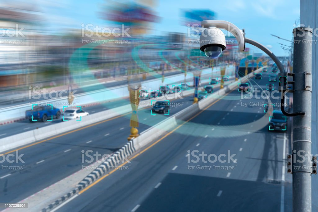 A speed dome camera new technology 4.0 signal for Checking speed of...