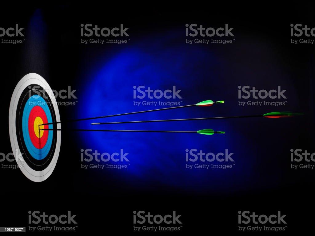 Speed in a Archery Arrow royalty-free stock photo