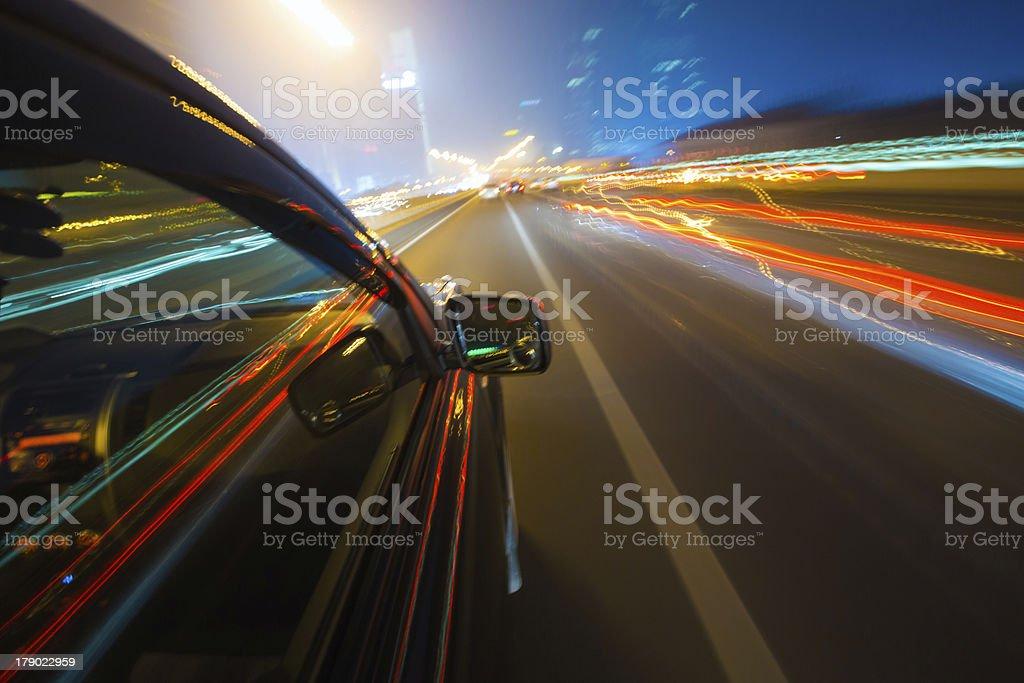 Speed in urban scene royalty-free stock photo