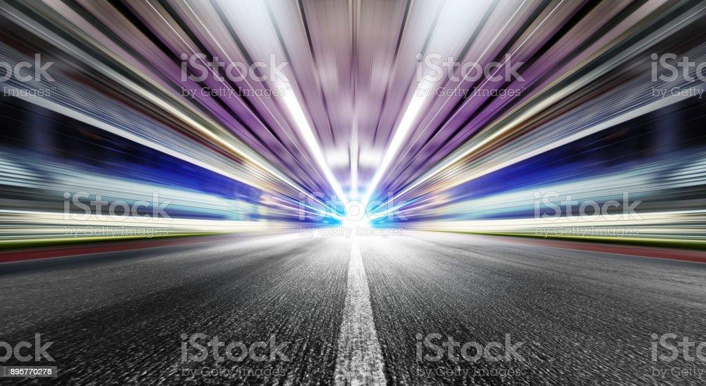 speed in urban tunnel stock photo