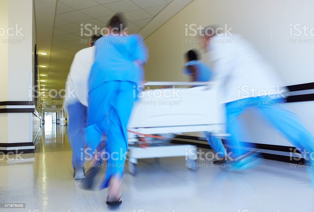 Speed is of the essence - Saving lives stock photo