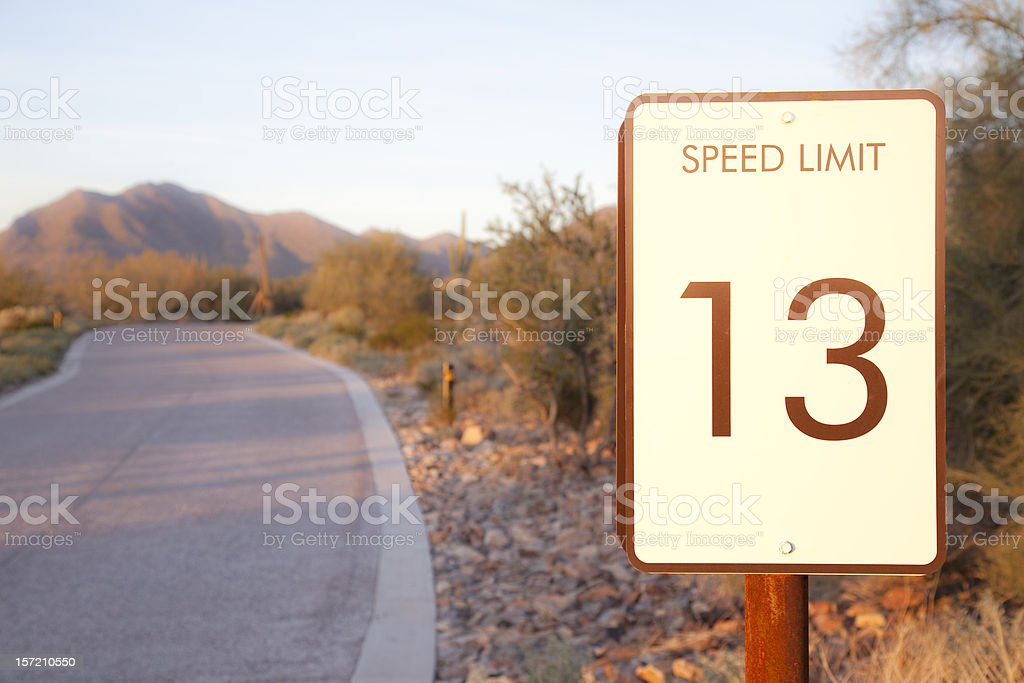 Speed Limit 13 royalty-free stock photo