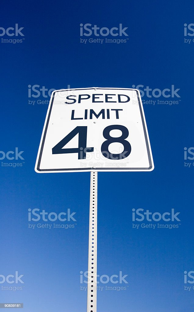 Speed Limit 48 royalty-free stock photo