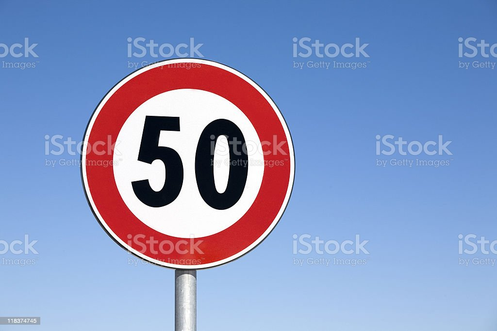 Speed limit: 50 royalty-free stock photo