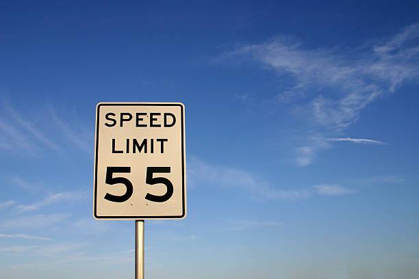 Speed Limit 55 stock photo