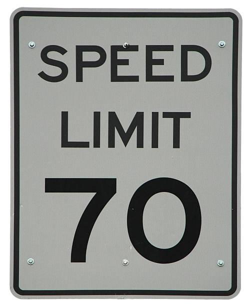 Speed Limit 70 stock photo