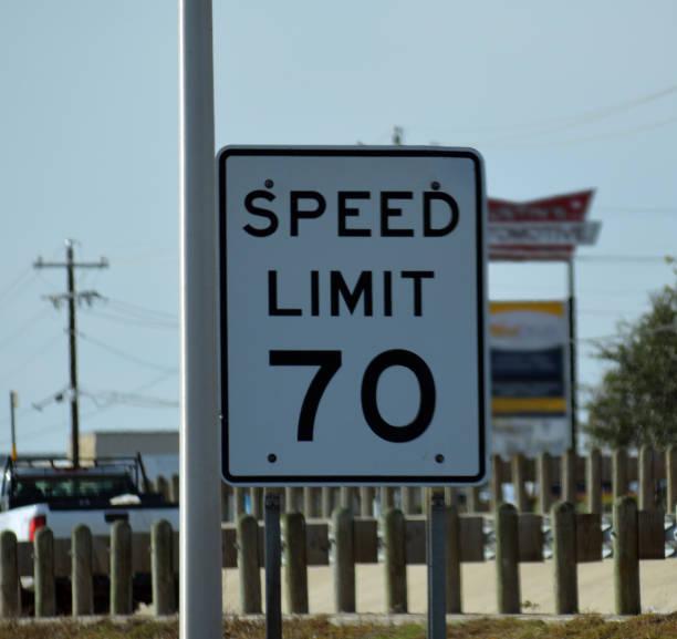 Speed Limit 70 Sign stock photo