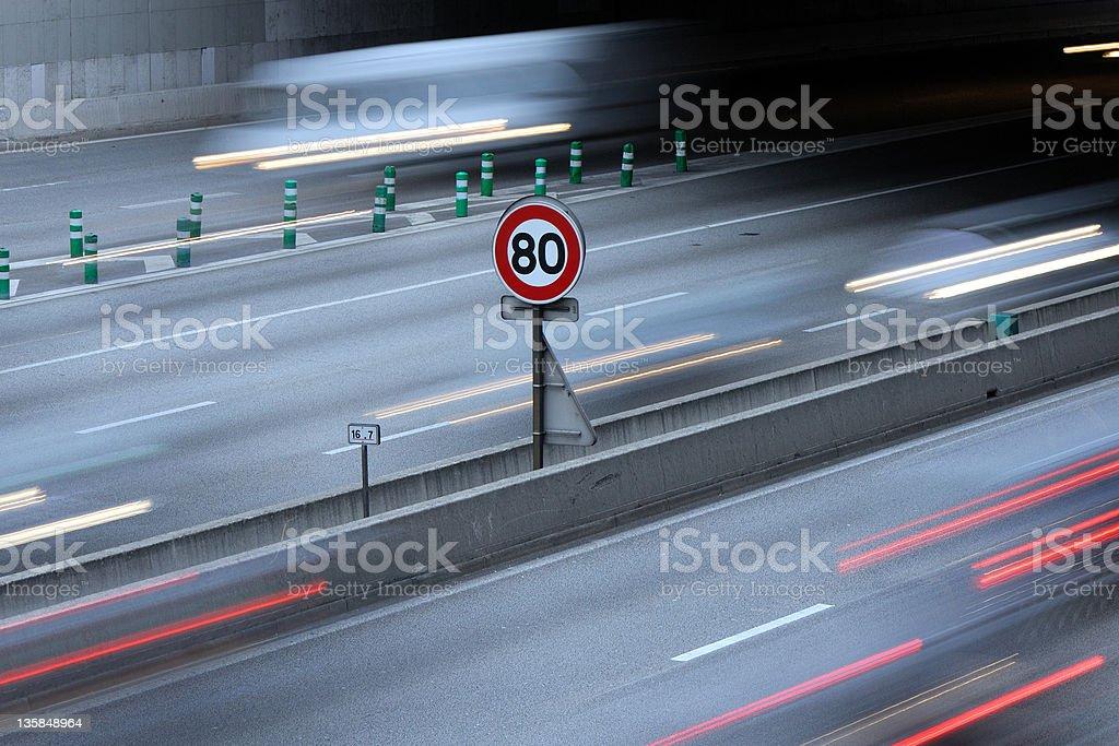 Speed limit stock photo