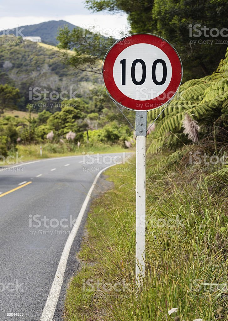 100 Speed Limit stock photo