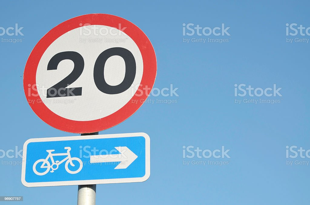 Speed Limit Road Sign royalty-free stock photo