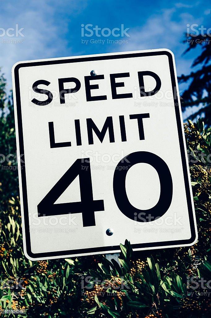 Speed limit sign in California, USA photo libre de droits