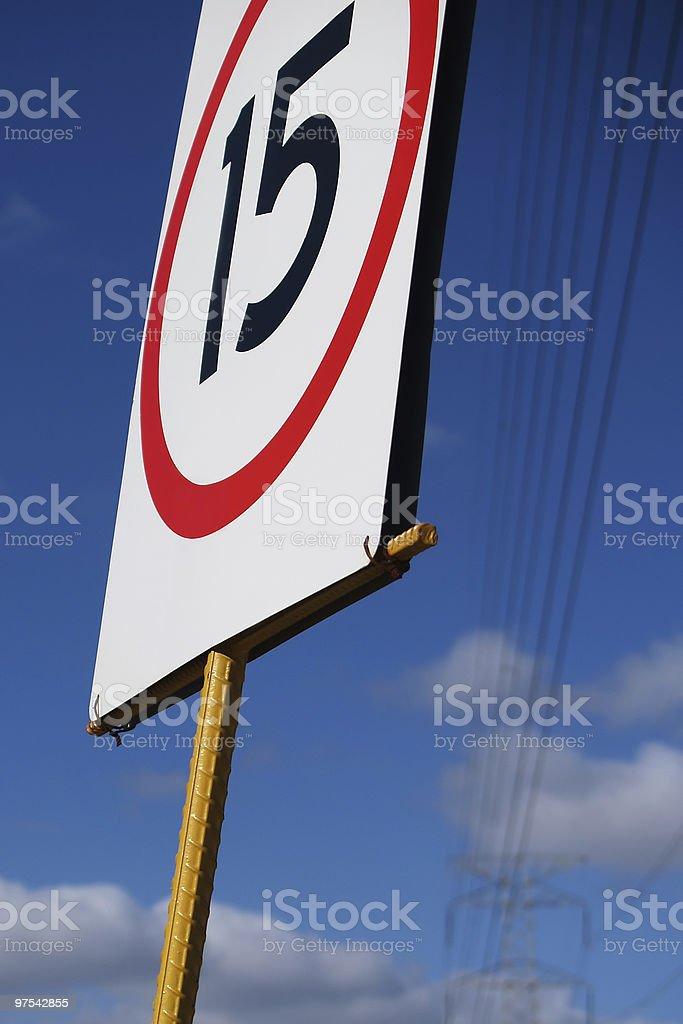 Limitation de vitesse photo libre de droits
