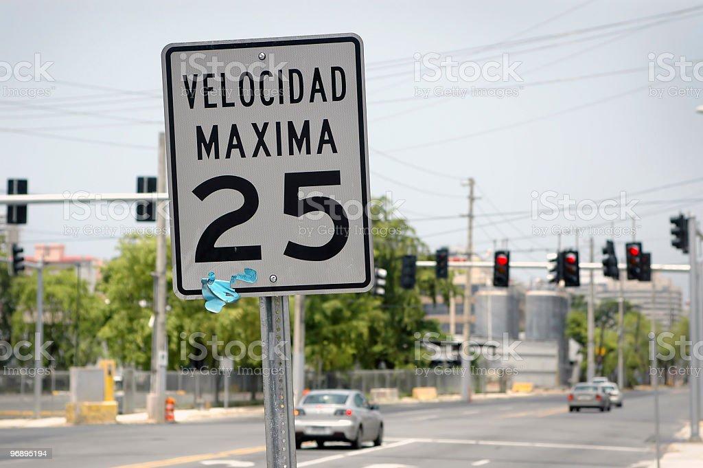 Speed limit spanish royalty-free stock photo