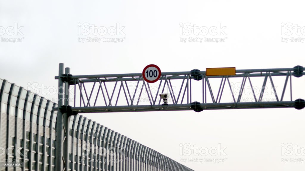 Speed limiter regulation stock photo