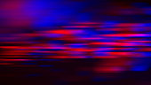 Speed Motion Abstract Neon Stripe Bokeh Red Blue Vibrant Blurred Lines Black Background Futuristic Pattern Fantasy Sparks Distorted Macro Photography