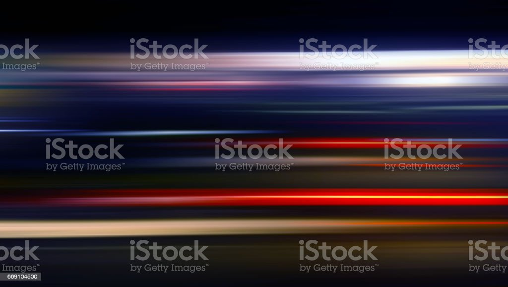 Speed motion background with vivid lighting in black - travel concept stock photo