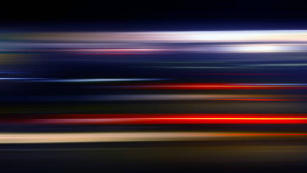 speed motion background with vivid lighting in black - travel concept - in a row stock pictures, royalty-free photos & images
