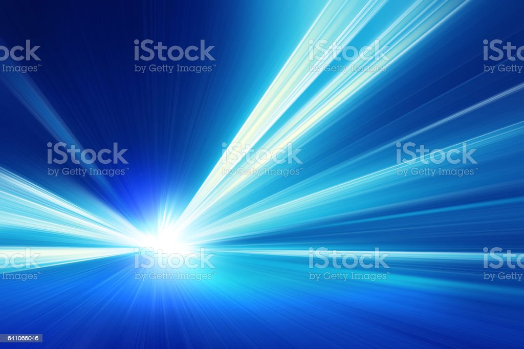 Speed motion in the tunnel. stock photo