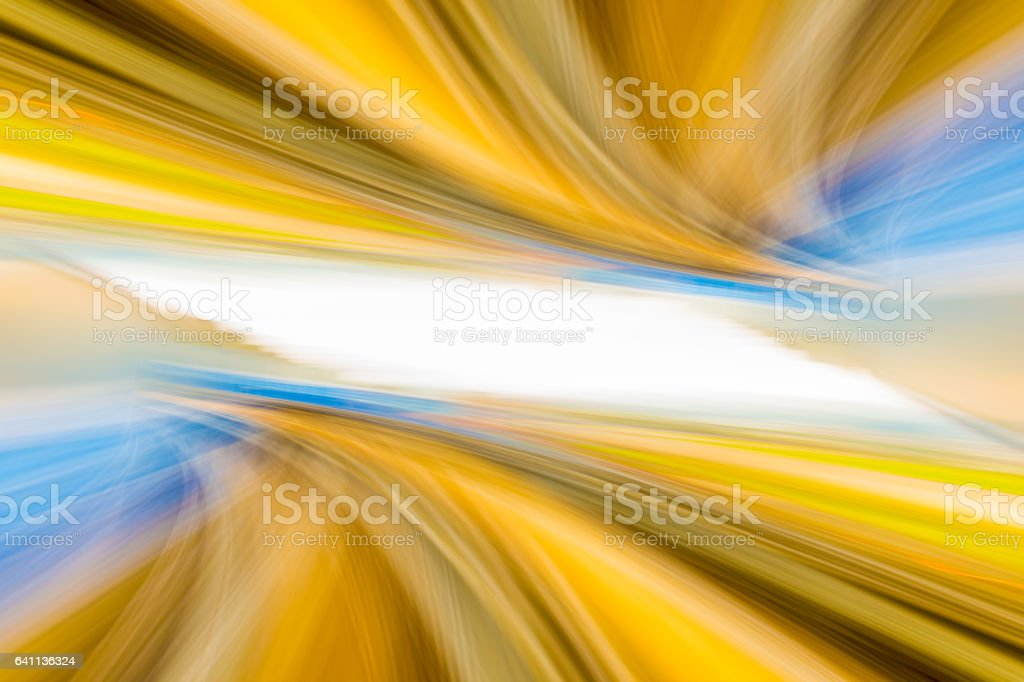 Speed motion in urban highway road tunnel stock photo